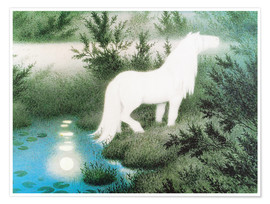 Premium poster  The Nix as a white horse - Theodor Kittelsen
