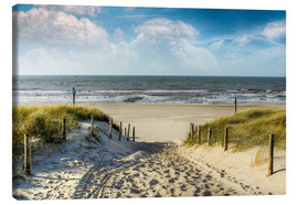Canvas print  Path through the dunes to the beach - Peter Roder