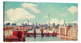 Canvas print  berlin skyline retro - bildpics