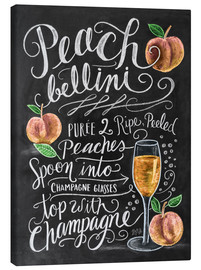 Canvas print  Peach Bellini recipe - Lily & Val