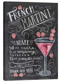 Canvas print  French Raspberry Martini recipe - Lily & Val