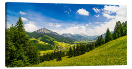 Canvas print  Valley of Tannheim in Tyrol, Austria - Michael Helmer