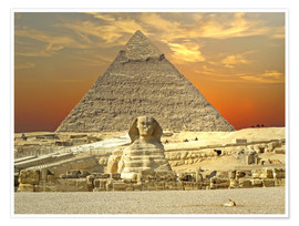Premium poster  Sphinx from Gizeh - Tina Melz