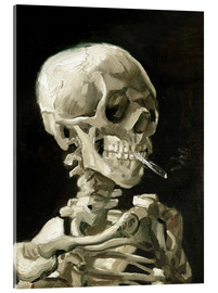 Acrylic print  Skeleton with a burning cigarette - Vincent van Gogh
