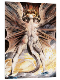 Foam board print  The great red dragon and the woman with the sun - William Blake