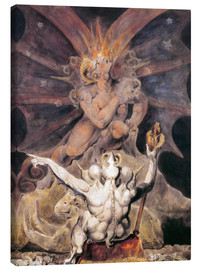 Canvas print  The Number of the Beast is 666 - William Blake