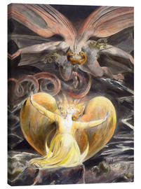 Canvas print  The great red dragon and the woman clothed with sun - William Blake