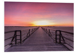 Foam board print  Long jetty at the beach of St. Peter Ording - Dennis Stracke