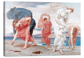 Canvas print  Greek girls picking up pebbles - Frederic Leighton