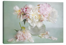 Canvas print  still life with peonies - Lizzy Pe