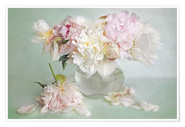 Premium poster  still life with peonies - Lizzy Pe