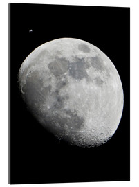 Acrylic print  ISS and the Moon - NASA