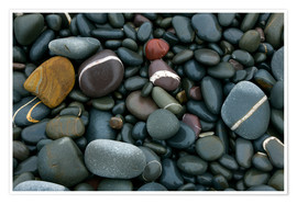Premium poster  Pebbles on a beach - Keith Wheeler