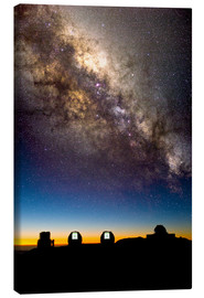 Canvas print  Mauna Kea telescopes and Milky Way - David Nunuk