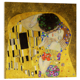 Acrylic print  The Kiss (detail cross) - Gustav Klimt