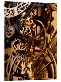 Acrylic print  Internal gears within a clock - David Parker