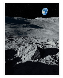 Premium poster Earth from the moon