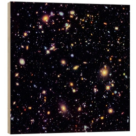 Wood print  Hubble Extreme Deep Field - NASA