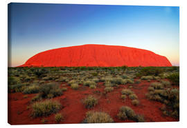 Canvas print  Ayers Rock at sunrise - I. Schulz