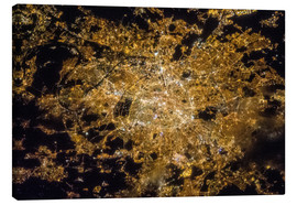 Canvas print  Paris by night from above - NASA