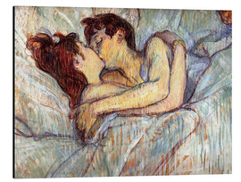 Aluminium print  In Bed, The Kiss - Henri de Toulouse-Lautrec