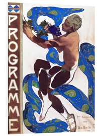 Foam board print  Afternoon of a Faun - Leon Nikolajewitsch Bakst