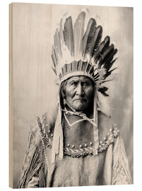 Wood print  Native American chief