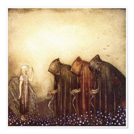 Premium poster  The Story of Skutt the Moose and Princess Tuvstarr - John Bauer