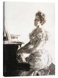 Canvas print  At the piano - Anders Leonard Zorn