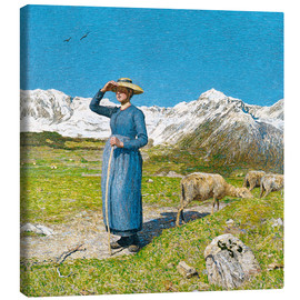Canvas print  Lunch in the Alps - Giovanni Segantini