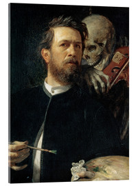 Acrylic print  Self-Portrait with Death Playing the Fiddle - Arnold Böcklin