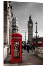 Acrylic print  London telephone box and Big Ben - Filtergrafia