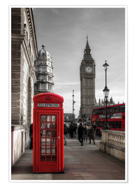 Premium poster  London telephone box and Big Ben - Filtergrafia