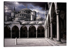 Aluminium print  Lady and the mosque - Daniel Murphy