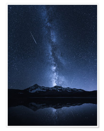 Premium poster  Galaxies Reflection - Toby Harriman