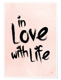 Premium poster  in love with life - m.belle