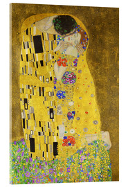 Acrylic print  The Kiss (portrait) - Gustav Klimt