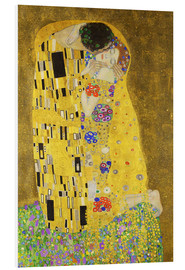 Foam board print  The Kiss (portrait) - Gustav Klimt