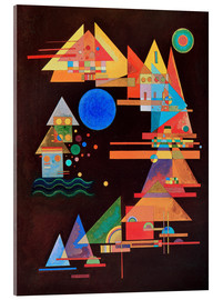 Acrylic print  Peaks in the bow - Wassily Kandinsky