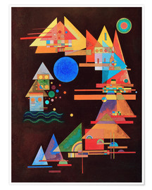 Premium poster  Peaks in the bow - Wassily Kandinsky
