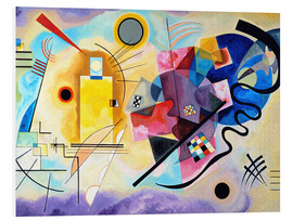 Foam board print  Yellow, red and blue - Wassily Kandinsky