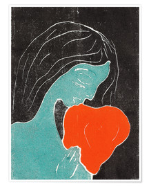Premium poster  The heart - Edvard Munch