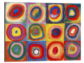 Aluminium print  Colour study - squares and concentric rings - Wassily Kandinsky