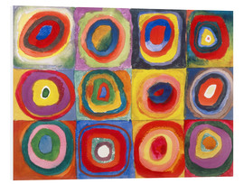Foam board print  Colour study - squares and concentric rings - Wassily Kandinsky