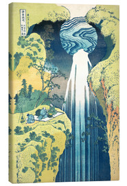 Canvas print  Waterfall of Amida at the Kiso Street - Katsushika Hokusai