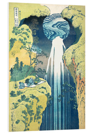 Foam board print  Waterfall of Amida at the Kiso Street - Katsushika Hokusai