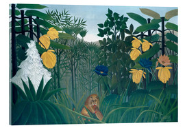 Acrylic print  The meal of the lion - Henri Rousseau