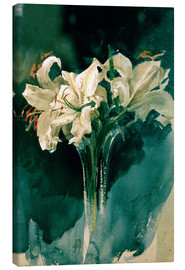 Canvas print  White Lilies - Anders Leonard Zorn