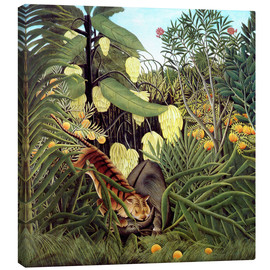 Canvas print  Combat of tiger and buffalo - Henri Rousseau