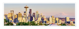 Premium poster  Seattle Skyline II - Rainer Mirau
